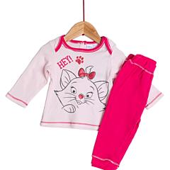 Pijama mânecă lungă bebe 9/36 luni Marie
