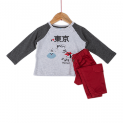Set pantaloni și bluză bebe 6/36 luni