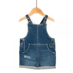 Salopetă jeans bebe 3/36 luni