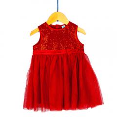 Rochie mânecă scurtă bebe 6/36 luni