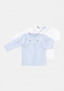 Set 2 bluză mânecă lungă nou născut 0/6 luni