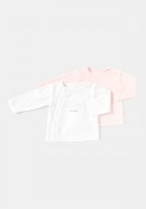 Set 2 bluze mânecă lungă nou născut 0/6 luni