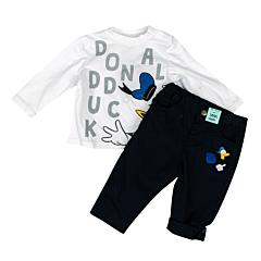 Tricou + pantaloni bebe 3/36 luni