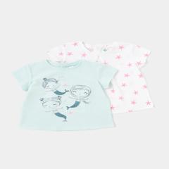 Setx3 tricou bebe 3 luni/4 ani