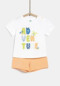 Tricou + bermude bebe 6 luni/4 ani