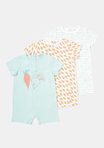 Set x3 salopete bebe 3/36 luni