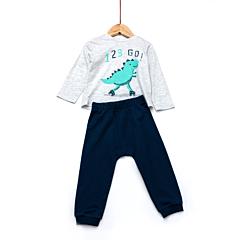 Tricou+pantaloni bebe 6 luni/4 ani