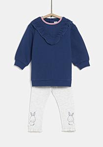Bluza+colanti bebe 6 luni/4 ani