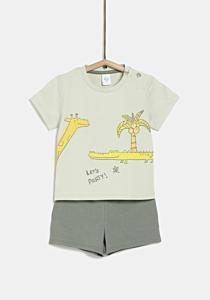 Set tricou si pantaloni scurti bebe 6 luni/4 ani