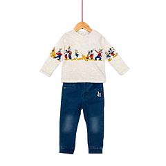 Set jeans si tricou bebe 3/36 luni