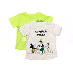 Set 2 tricouri maneca scurta bebe 3/36 luni
