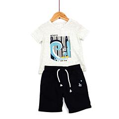 Set bermude si tricou bebe 3/36 luni