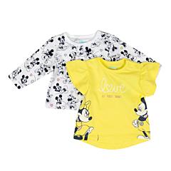 Set 2 tricouri bebe 3/36 luni