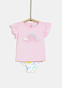 Set tricou si slipi bebe 6 luni/4 ani