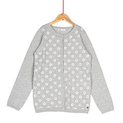 Jachetă tricotată fete 2/14 ani