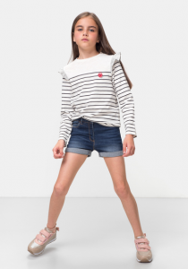 Pantaloni scurți jeans fete 3/14 ani