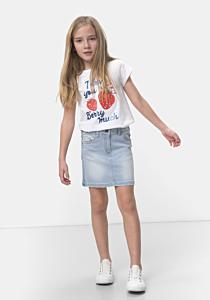 Fustă jeans fete 3/14 ani