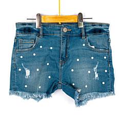 Pantaloni scurți jeeans fete 5/16 ani