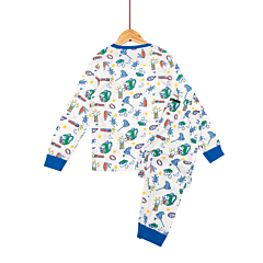 Pijama maneca lunga baieti 3/8 ani