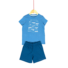 Pijama maneca scurta baieti 3/8 ani