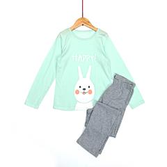 Pijama maneca lunga fete 2/8 ani