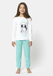 Pijama Disney maneca lunga fete 3/8 ani