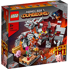LEGO Minecraft Batalia pentru piatra rosie 21163,