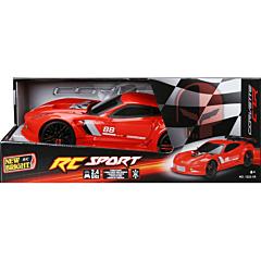 Masina Corvette cu R/C, 1:12, plastic, Rosu
