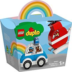 LEGO Duplo Elicopter de stingere a incendiilor si Masina de politie 10957
