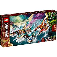 LEGO Ninjago Lupta pe mare cu catamaranul 71748