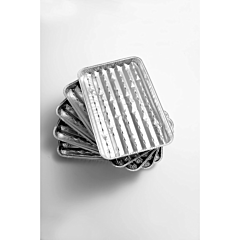Set 5 tavi pentru gratar din aluminiu, Grill Chef