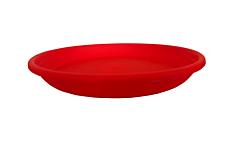Farfurie ghiveci Olivia, diametru 140 mm, rosu
