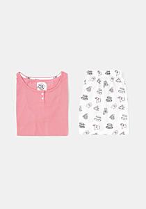 Pijama mânecă scurtă damă S/XXL