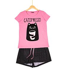 Pijama meneca scurta dama S/XXL