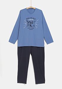 Pijama maneca lunga barbati 4XL/6XL