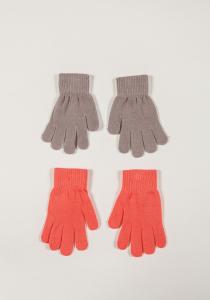 Set două perechi mănuși  tricotate fete 2/12 ani