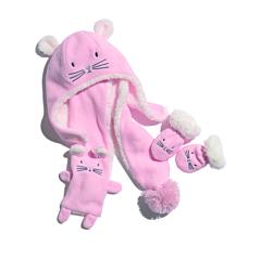 Set căciulă + fular + mănuși bebe 0/24 luni