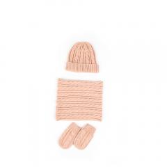 Set căciulă + guler + mănuși bebe 0/24 luni