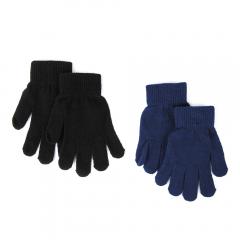 Set două perechi mănuși uni băieți 2/12 ani