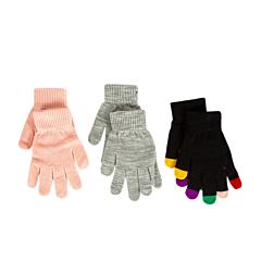 Set x 3 mănuși fete 2/12 ani