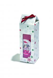Cutie cadou cu prosop 50x80 cm motiv Crăciun