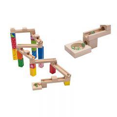 Joueco  Jucarie din lemn Pista cu bile