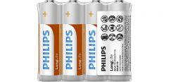 Baterii Philips LongLife AA 4-foil w/ sticker