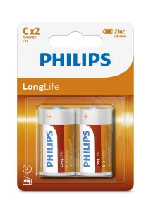 Baterii Philips LongLife C 2-blister