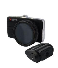 Camera auto DVR Xblitz Professional P600, Full HD, dubla, unghi de filmare 165 de grade, senzor G