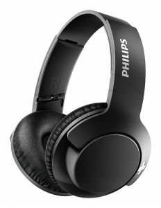 Casti audio wireless Philips Bass+ SHB3175BK/00, Bluetooth v4.1, microfon incorporat, pliere compacta, izolare fonica, Negru