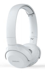 Casti audio wireless Philips TAUH202WT/00, Bluetooth v4.2, microfon incorporat, pliere compacta, buton multifunctional, redare 15 ore, Alb