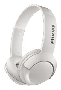 Casti on-ear PHILIPS SHB3075WT/00, wireless, Bass+, microfon, Alb