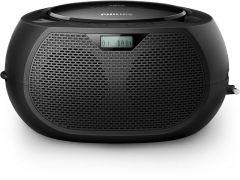 Microsistem audio Philips AZB200/12 , CD Player, tuner FM, DAB+, AUX, 2 x 1 RMS , reglare automata digitala, Negru