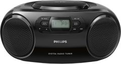 Microsistem audio Philips AZB500/12, CD, tuner FM, DAB+, AUX, 2 x 1 RMS, Negru